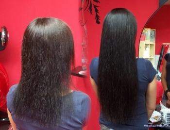 vlasy k prodloužení keratin
